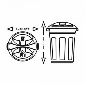 Пластиковый цилиндрический контейнер 150 литров