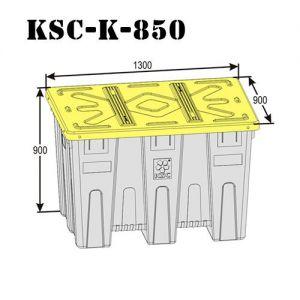Контейнер с крышкой 850 литров
